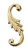 HW1102 - S-Hook, Brass Goldplated, 4/Pk