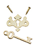 HW1103 - Chippendale Key Plate with Key/Nail,6