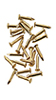 HW1129 - Solid Brass Pointed Nails 100Pc