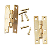 HW1131 - H Hinges/Brass, 2Pr with 24 Nail