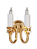 HW2013 - Brass 2 Arm Wall Sconce