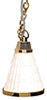 HW2552 - White Cone Hanging Lamp