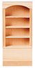HW5010 - Bookcase, 1 Section 4 Shelves