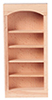 HW5016 - Bookcase 1-Section 5-Shelf Unit