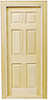 HW6007 - Interior 6-Panel Door with Trim
