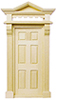 HW6013 - Victorian 6-Panel Door Hooded