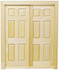 HW6026 - Double 6-Panel Interior Door