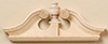 HW7173 - Single Deerfield Door Pediment 2Pk