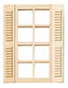 HWH5003 - 1/2 Scale: Std. 8-Light Shutter Window