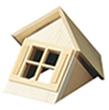 HWH7002 - 1/2 Scale: Dormer Window Unit with Window