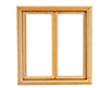 Double 1-Pane Casement Window