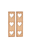 Shutters - Heart Cutouts, 1 Pair