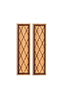 Crosshatch Shutters/1Pr