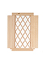 AS2114S - Single Window, Diamond Pattern with Shutters