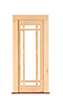 Prairie Single Full Glass Door