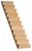 Staircase with Treads, 10 Inches