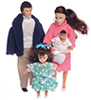 AZ00020 - Modern Doll Family/4, Brunette