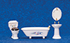 AZ00302 - Bathroom Set, 4Pc, W/Flowers/Cs