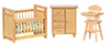 AZ00312 - Nursery Set, 3Pc, Oak/Cs