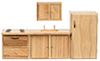 AZ03778 - Modern Kitchen Set, Oak, 4Pc/Cs