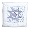 AZALS220HB - White/Purple Star Pillow
