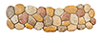 AZB0013TN - Walkway W, Large Stones, Tan