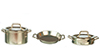 AZB0108 - Pots and Pans with Lids, Nickel, 5