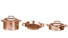 AZB0109 - Pots and Pans with Lids, Copper, 5