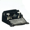 AZB0164 - Black Typewriter