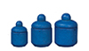 AZB0168 - Canister Set, Blue Spatter, 3 Pieces