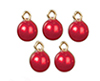 Red Xmas Ornaments Set, 5