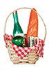 AZB0240 - Bread & Wine Basket