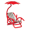 AZB0258 - 1/2In Chair with Umbrella, Red