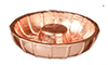 AZB0309 - Bundt Cake Mold, Copper