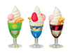 Ice Cream Sundaes, Set, 3