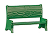 AZB0405 - Small Green Bench