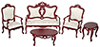 AZB7748 - Fancy Victorian Living  Room Set/4/M