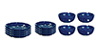 AZD2762 - Blue Spatter Dishes/12