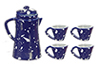AZD2789 - Spatter Coffee Set, Blue