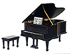 AZD4121 - Piano with Bench/Black/Cb