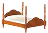 AZD5304 - Cannonball Bed,Walnut, Asstorted Fabric