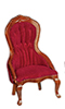 AZD6272 - T6273 Victorian Lady'S Chair, Burgandy