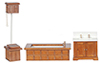 AZD6406 - Vict Bath Set/3, Walnut/Cb