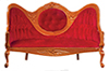 AZD6414 - T6273 Mirrorback Sofa, Red
