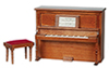AZD7081A - Piano with Bench, Non-Musical, Walnut