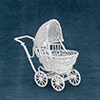 AZEIWF112 - Small Baby Buggy, White/Cb