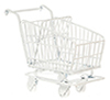 Shopping Cart, White