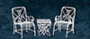 AZEIWF573 - Table & 2 Chairs/White