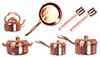 AZG6207 - Copper Kitchenware/10Pc