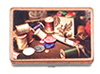 AZG7047 - Ant. Sewing Box W/Access